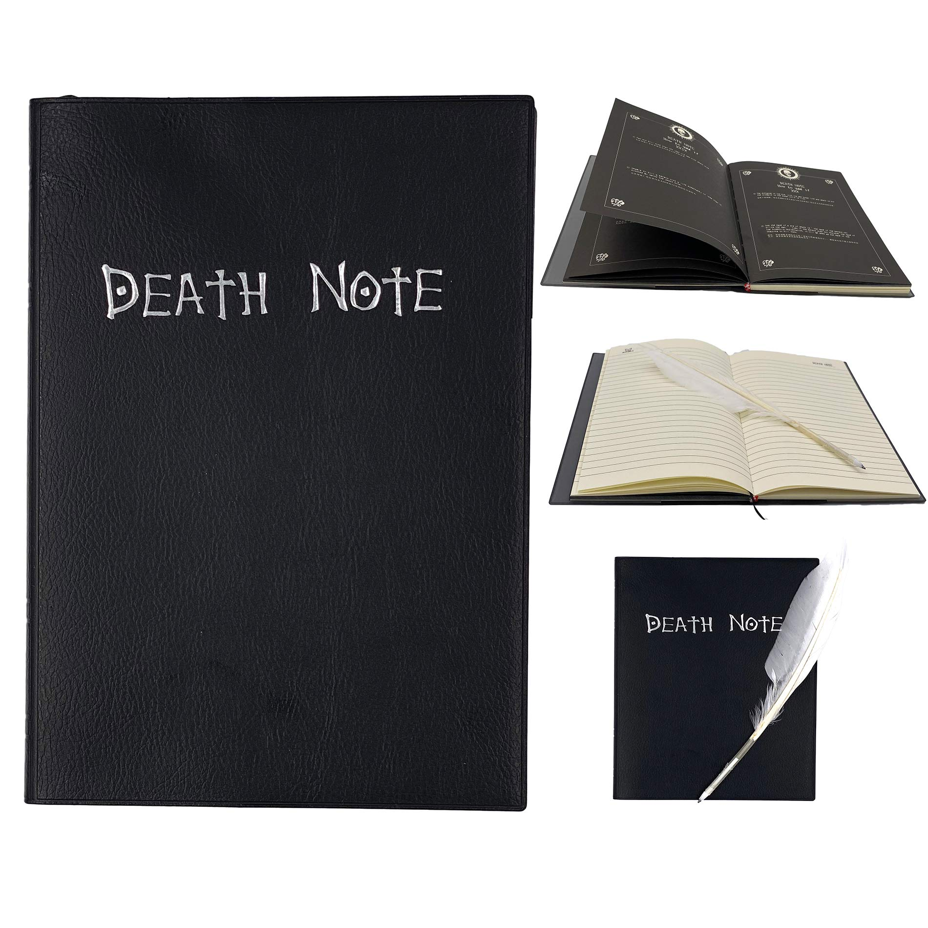 Goldenvalueable FROGWILL ANIME DEATH NOTE COSPLAY NOTEBOOK with FEATHER PEN