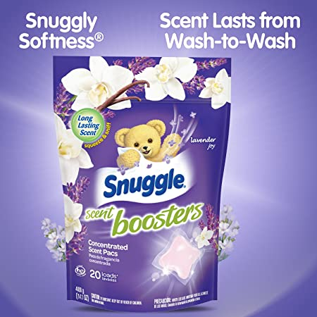 Amazon.com: Snuggle Laundry Scent Boosters Concentrated Scent Pacs, Lavender Joy, Pouch, 20 Count: Health & Personal Care