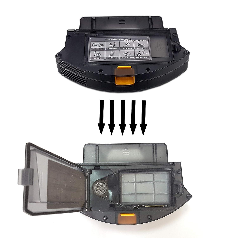 Kit 10x Waschbar Tuch Mikrofasertuch Original Ersatz Zubeh/ör f/ür Roboterstaubsauger DynaSun Home E30B 2in1 Saugroboter /& Wischroboter
