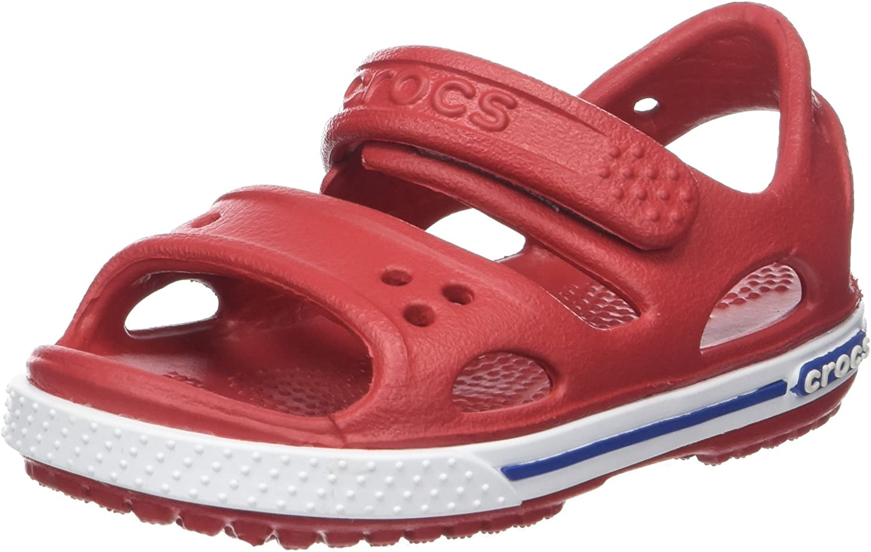 Crocs Crocband II Sandal PS K, Sandalias Unisex Niños, Rosa (Paradise Pink/Carnation), 27/28 EU