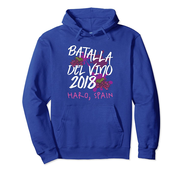 Batalla del Vino Wine Battle 2018 Funny Hoodie Spain Gift-ln