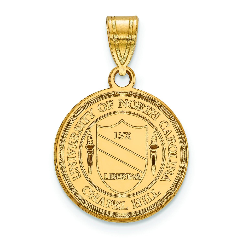 North Carolina Medium (5 / 8インチ) Crestペンダント(10 Kイエローゴールド)   B01JAON45O