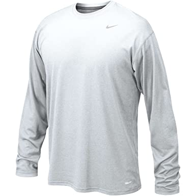3c7c891b4 Image Unavailable. Image not available for. Color: Nike Mens Long Sleeve  Legend Dri Fit Tee (XXXX-Large, White)