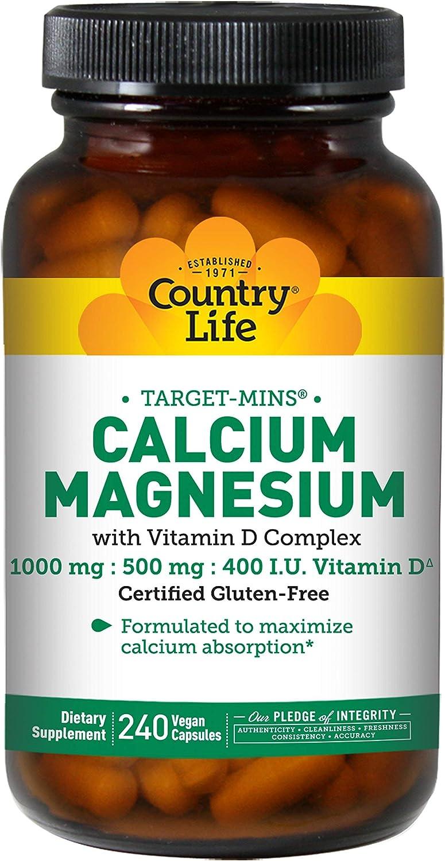 Country Life Calcium Magnesium - w/Vitamin D Complex - 240 Veggie Caps