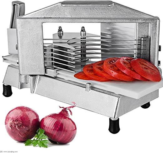 """Commercial Tomato Slicer Cutter 3//16/"""" Heavy Duty Industrial Cutting Machine"""