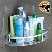 Wangel Eckablage Duschkorb Duschablagen Ohne Bohren für Bad, Patentierter Kleber + Selbstklebender 3M-Kleber