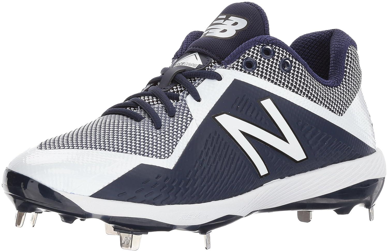 New Balance Men's L4040v4 Metal Baseball schuhe, Navy Weiß, 9.5 D US