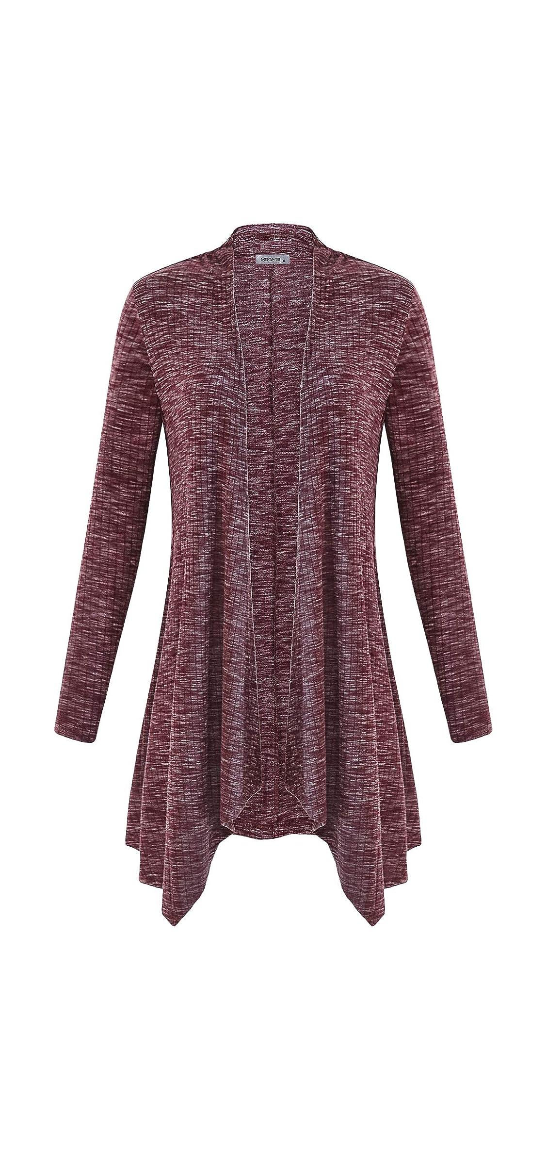 Women Long Sleeve Sweater Tops Open Front Drape Knit