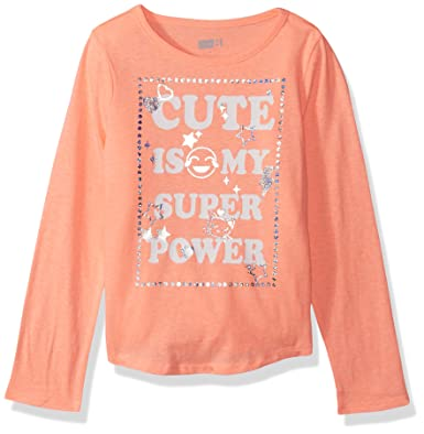 2fbfb309b69d Amazon.com: Crazy 8 Baby Girls' Long Sleeve Fashion Graphic Tee: Clothing