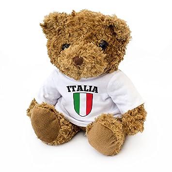 NUEVO - BANDERA ITALIANA - Osito De Peluche - Adorable Lindo - Regalo Obsequio Italiano Italia