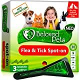 Flea and Tick Prevention for Dogs and Cats - Natural Flea Treatment for Pets Kittens Puppies - 100% Immediate Super Effect -