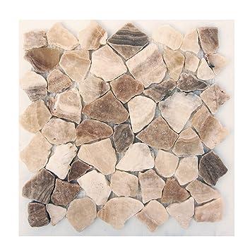 Mosaikfliesen stein  M-011 Onyx Bruchstein Badezimmer Mosaikfliesen Naturstein Fliesen ...