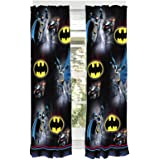"Franco Kids Window Curtain Panels Drapes Set, 82"" x 63"", Batman"