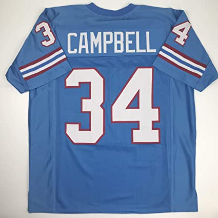 6579fb8ed Unsigned Earl Campbell Houston Blue Custom Stitched Football Jersey Size  Men s XL New No Brands