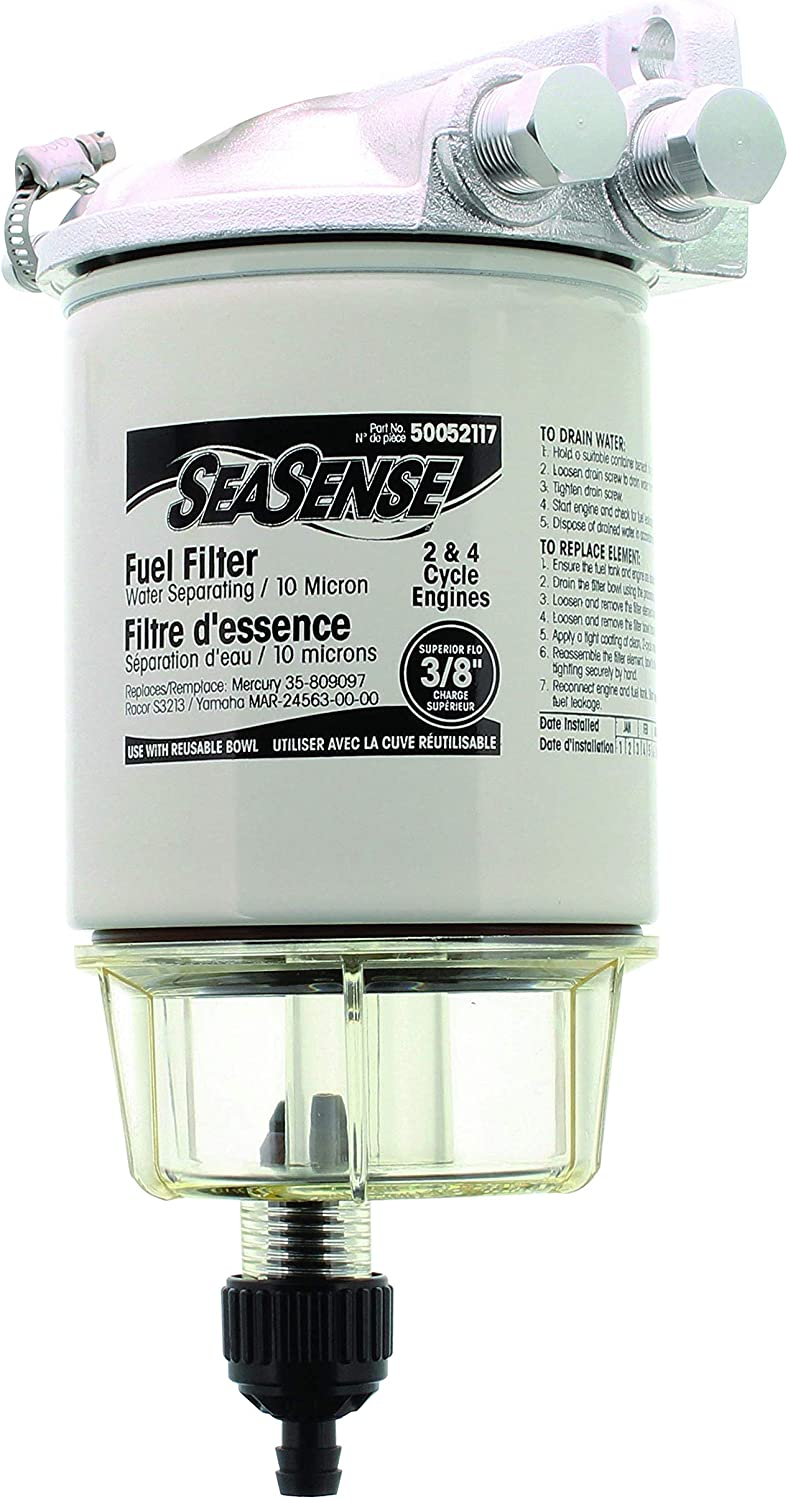 mercury fuel water filter amazon com seasense fuel filter kit with clear bowl and aluminum  amazon com seasense fuel filter kit