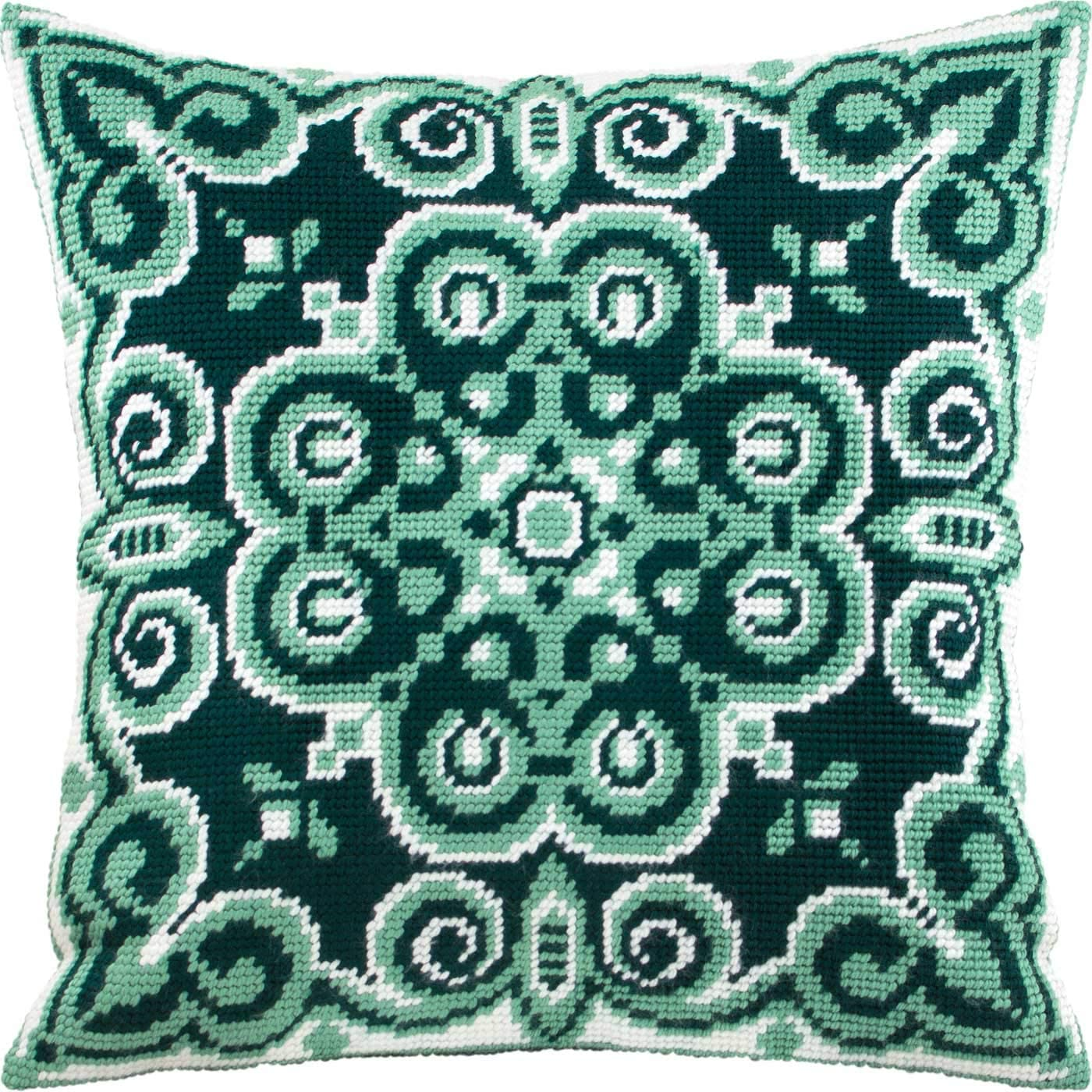 Throw Pillow 16/×16 Inches Needlepoint Kit Baghdad Printed Tapestry Canvas European Quality