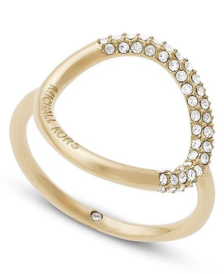 Michael Kors Damen Ring, Gold MKJ5857710: : Schmuck