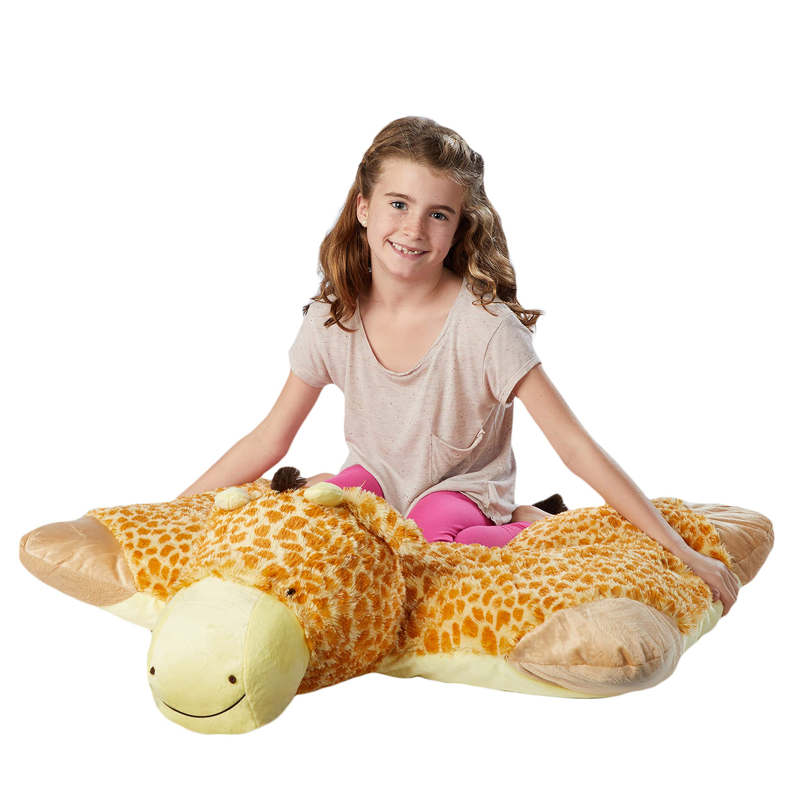 Pillow Pets Jumboz, Giraffe, 30'' Jumbo Folding Plush Pillow