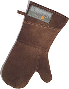 Outset F232 Leather Grill Mitt, 1 EA, Brown