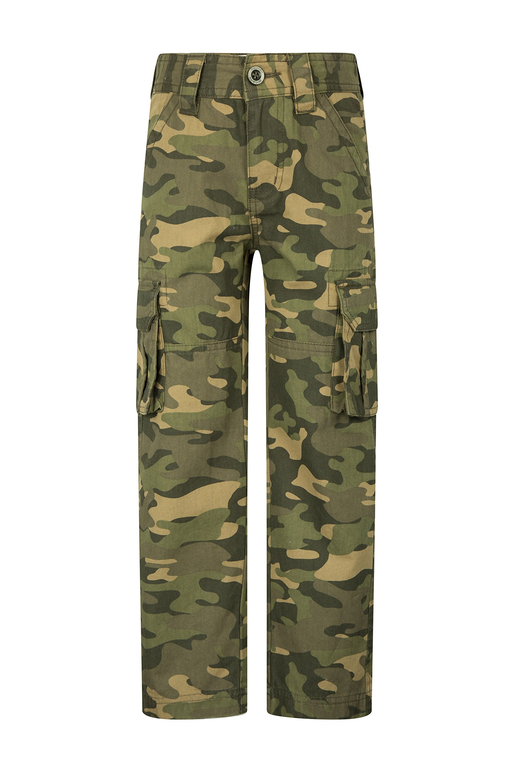 Mountain Warehouse Camo Kids Cargo Trousers -100% Cotton Summer Pants Camouflage 9-10 Years