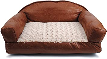 29 Inch By 19 Inch Faux Leather Sofa Bed