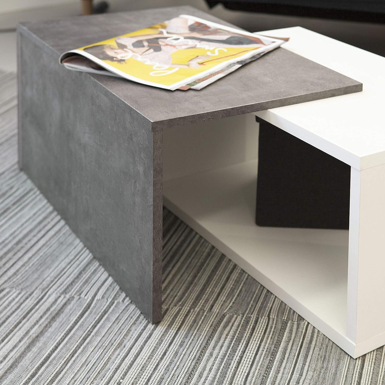 110 x 70 x 73 cm colore bianco e pietra L x P x A Tavolino da caff/è Marchio  -/Movian Turia