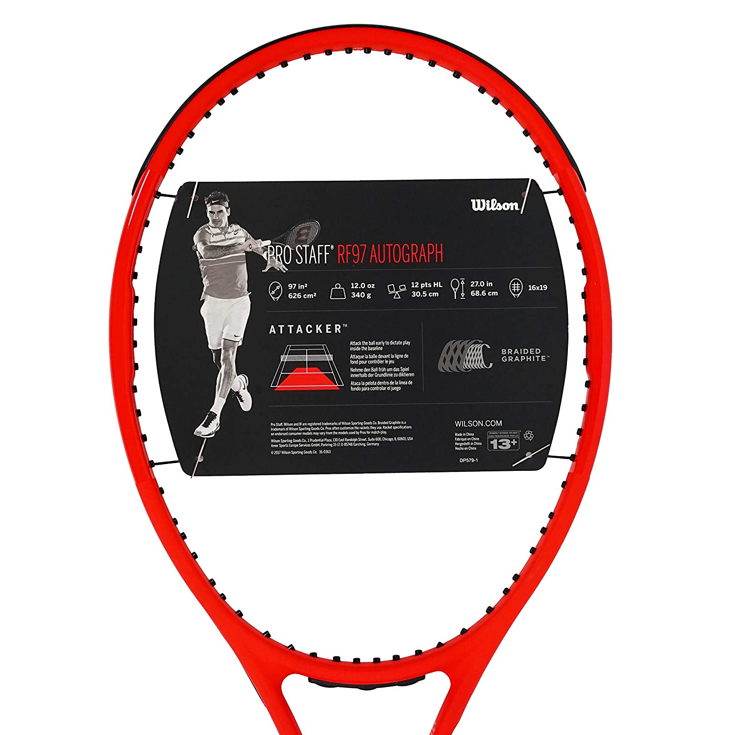 Amazon.com : |VuTenniscom| Wilson Pro Staff RF 97 Black or Black/White or Red Laver Cup, Free String (Black #2 [4 1/4]) : Sports & Outdoors
