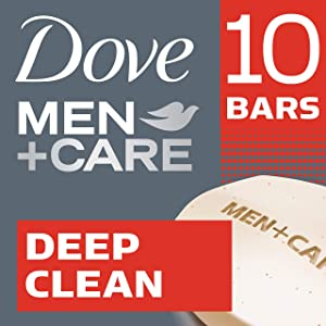 Dove Men+CareDeep Clean Body and Face Bar 4 oz, 10 Bar
