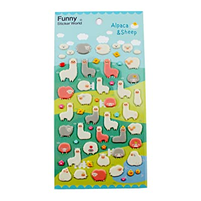 Funny Sticker World Alpaca and Sheep Stickers: Toys & Games
