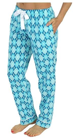 PajamaMania Schlafanzughose für Damen aus Flanell Pyjamahose Nachtwäsche