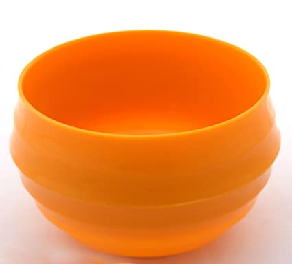 Fourwalls Plastic Vase 1 Cm X 1 Cm X 7 Cm Orange Pv R523 160 Org