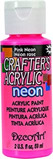 product image for Crafter's Acrylic All Purpose Paint 2 Ounces-Pink Neon