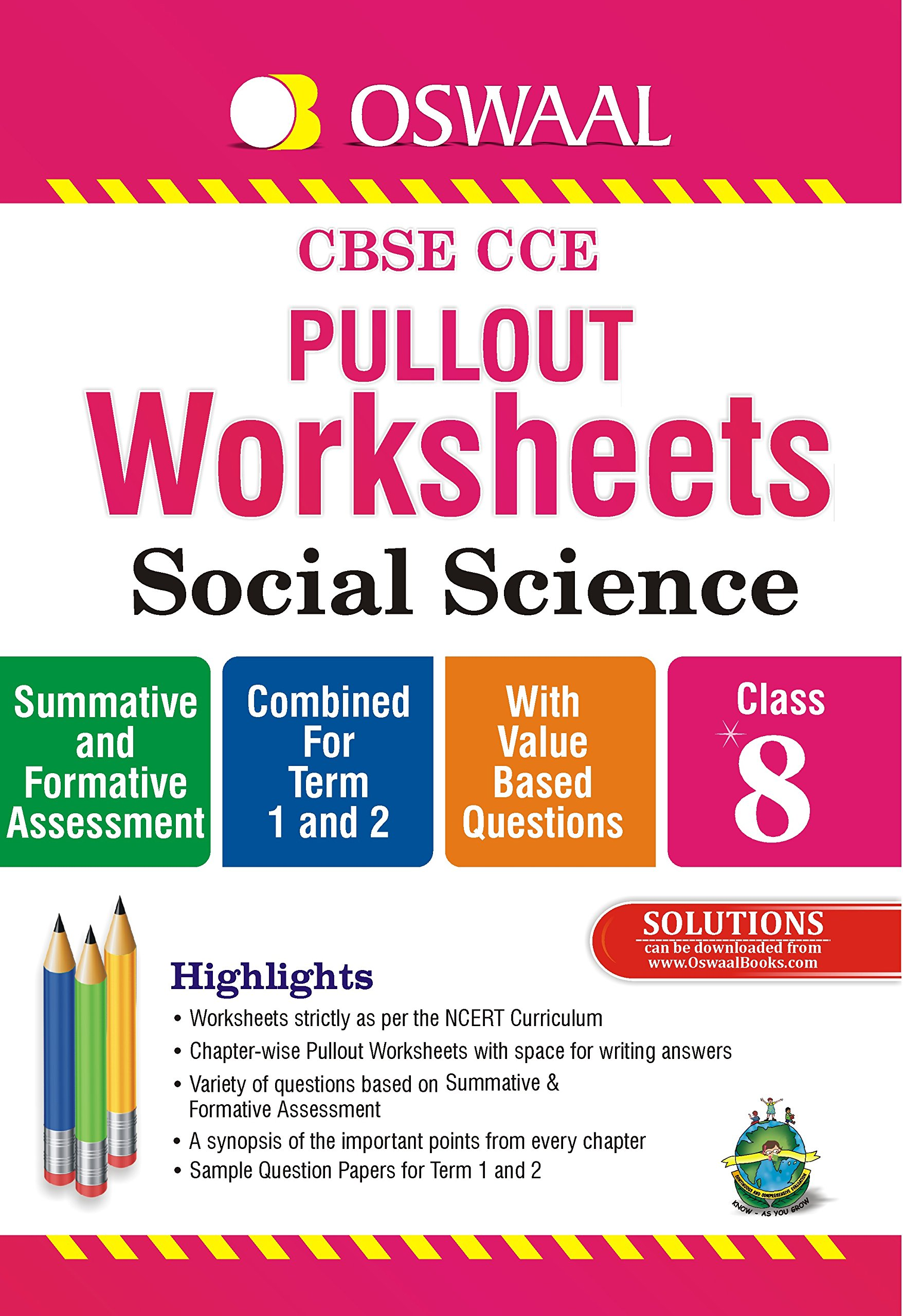 Oswaal CBSE CCE Pullout Worksheets: Social Science For Class 8 Old ...