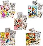 """10 Stück: Sticker & Malblöcke - """" Disney Figuren - für Mädchen """" - Malbuch / Malblock - A5 mit Aufkleber - Maus Playhouse / Pluto Minnie - Malvorlagen Malbücher Sammelalbum - Vorlage Klein Stickerblock - Kinder Kind groß z.B. für Stickeralbum"""