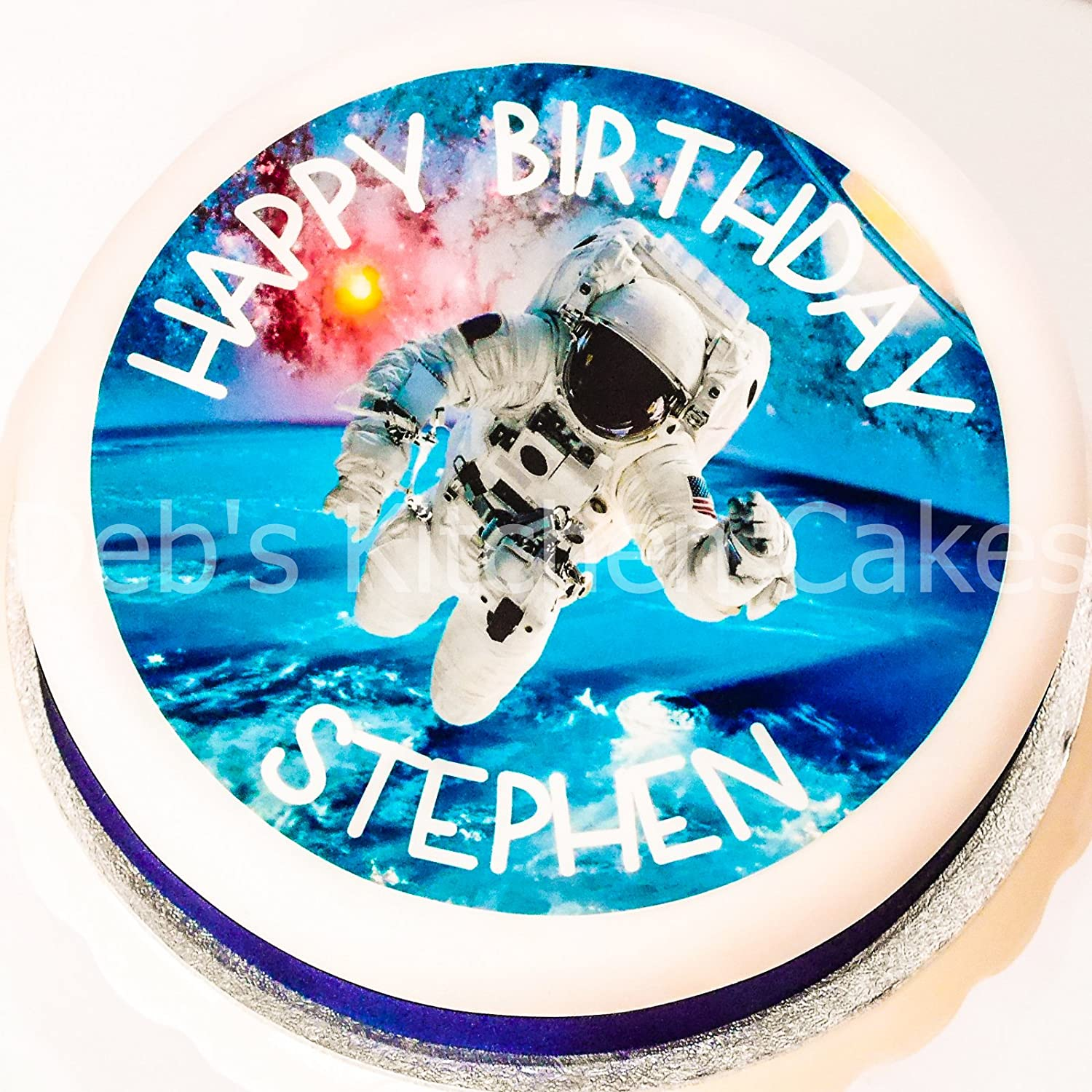 Personalised Scuba Diving Birthday Cake//Cupcake Toppers On Rice Paper