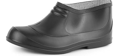 Ladeheid Botas de Caucho Goma Zapatos de Seguridad Unisex Adulto PA701P (Negro, EU 37