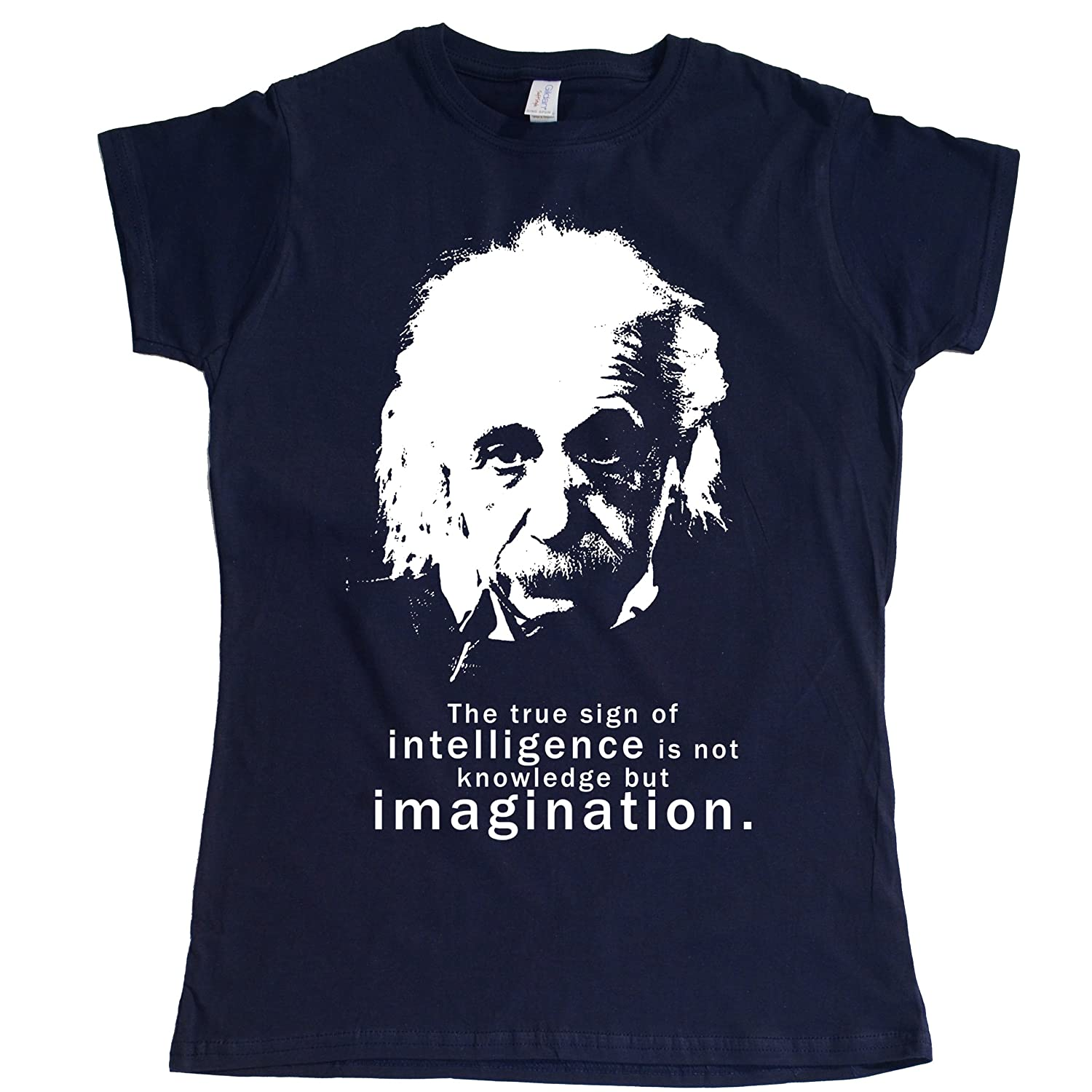 Stooble Womens's Albert Einstein Quote T-Shirt Stooble - 1ClickPrint