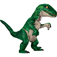 Rubie's Unisex-Adults Velociraptor Blue Inflatable Costume with Sound
