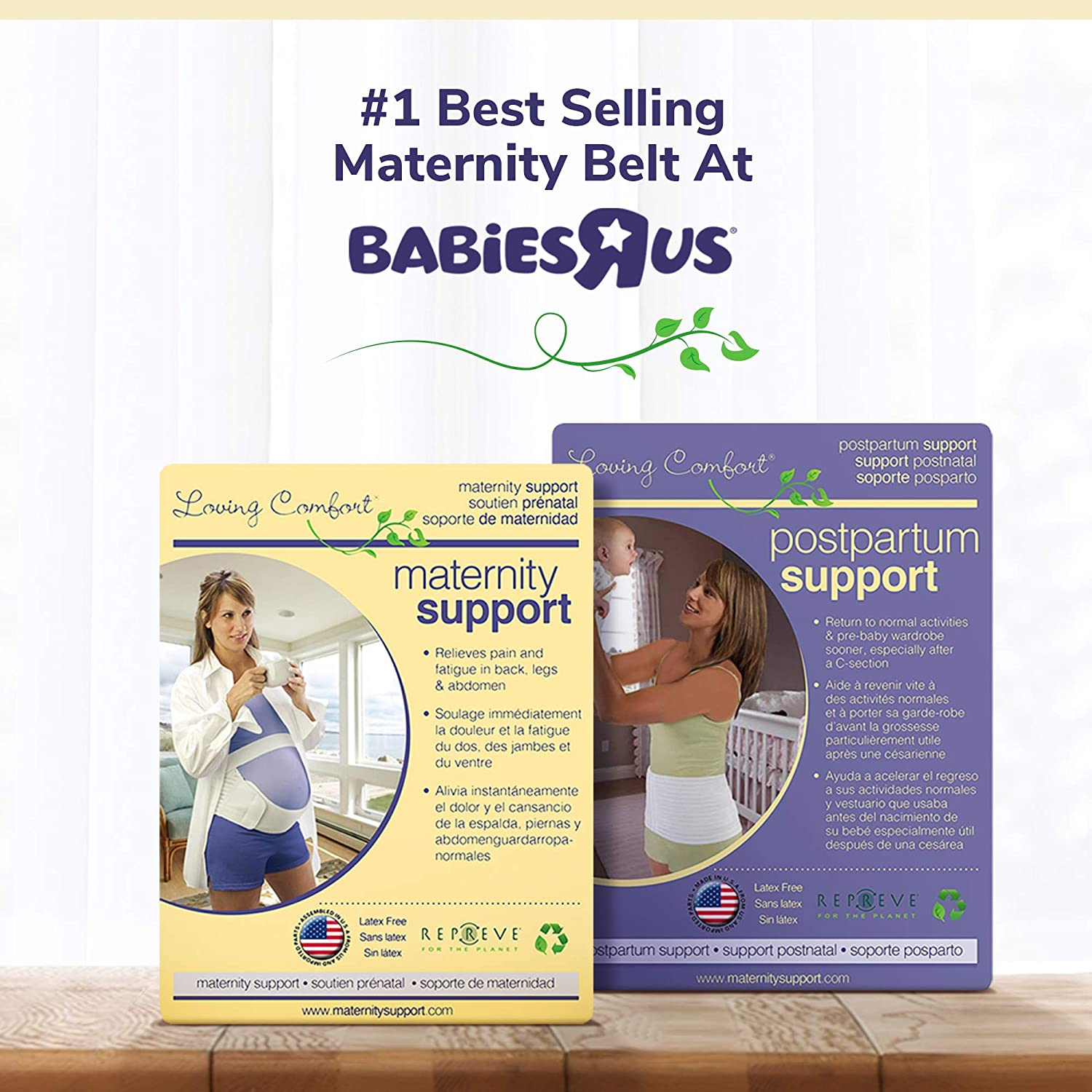 TheOriginal Maternity Support Belt Provides Comfort and Relief Throughout Pregnancy Large by Loving Comfort Beige