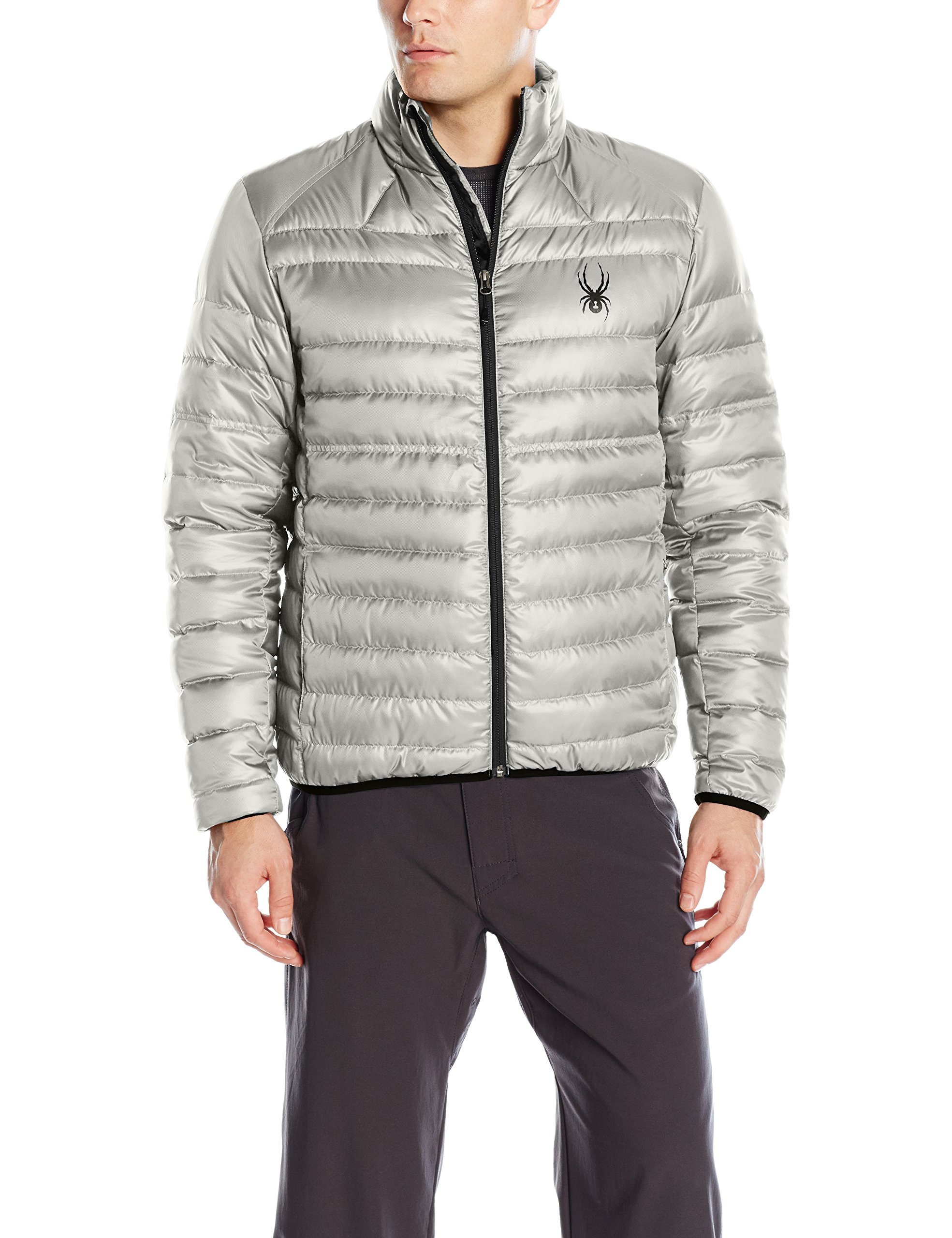 Spyder Men's Prymo Down Jacket, Cirrus/Black, Small by Spyder