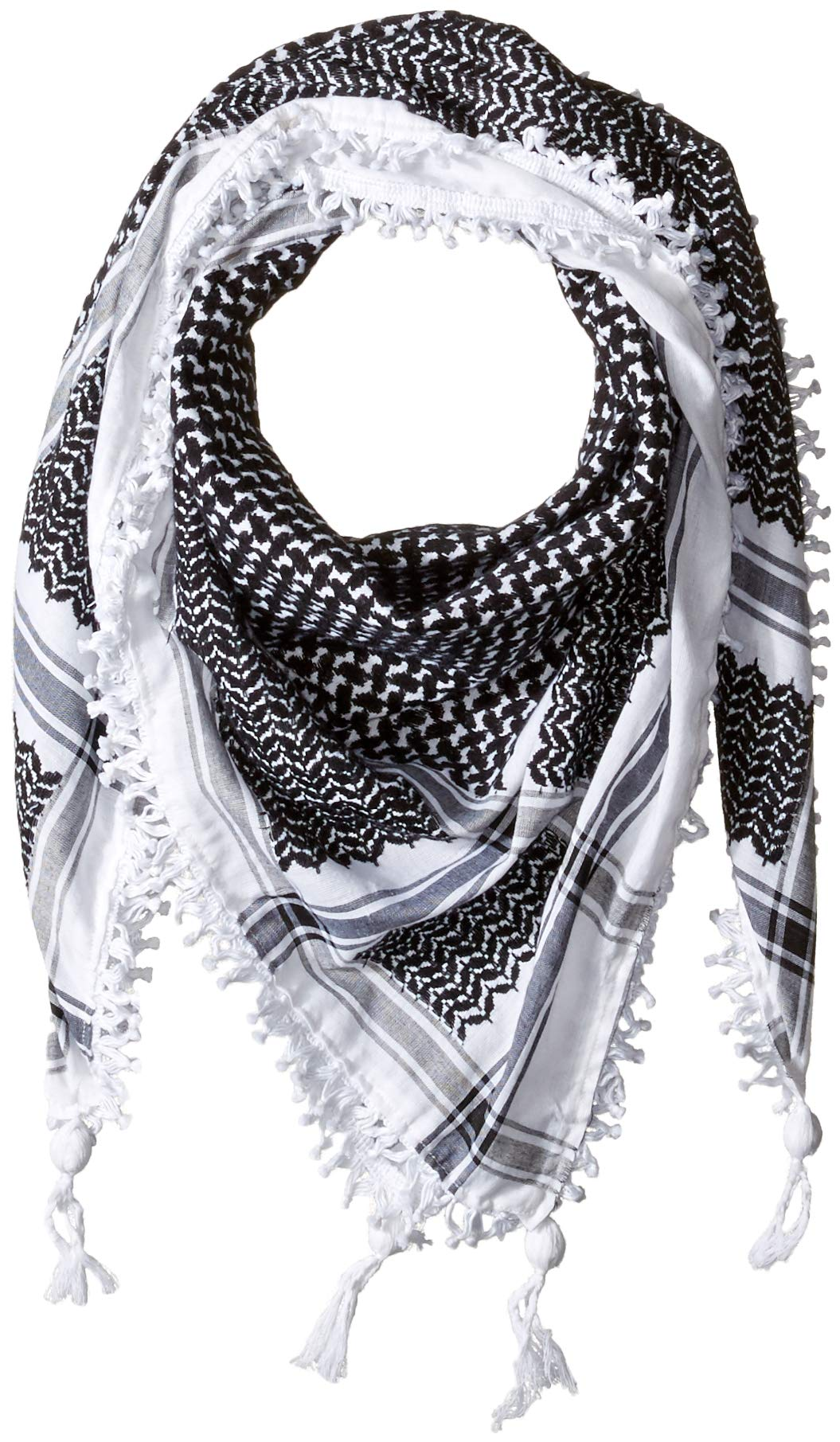 Hirbawi Premium Arabic Scarf 100/% Cotton Shemagh Keffiyeh 47x47 Arab Scarf Made in Palestine