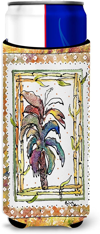Caroline's Treasures 8615MUK Palm Tree Ultra Beverage Insulators for slim cans, Slim Can, multicolor