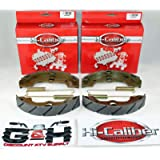 (2 Sets) WATER GROOVED Front Brake Shoes & Springs for Honda 1988-2000 TRX 300 Fourtrax 4x4