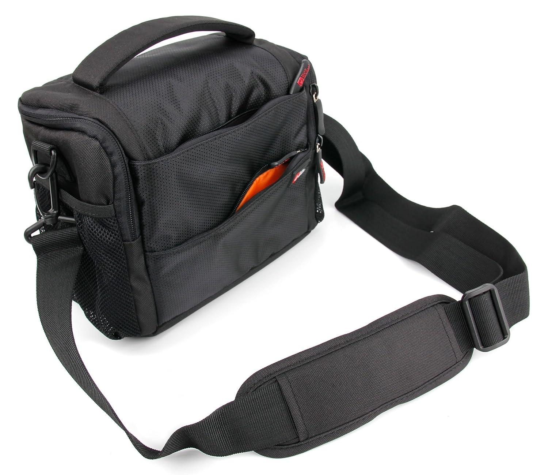 衝撃吸収防水ブラック&オレンジCarry Bag for mgcool Explorer 3 – by DURAGADGET   B078HHRVH1