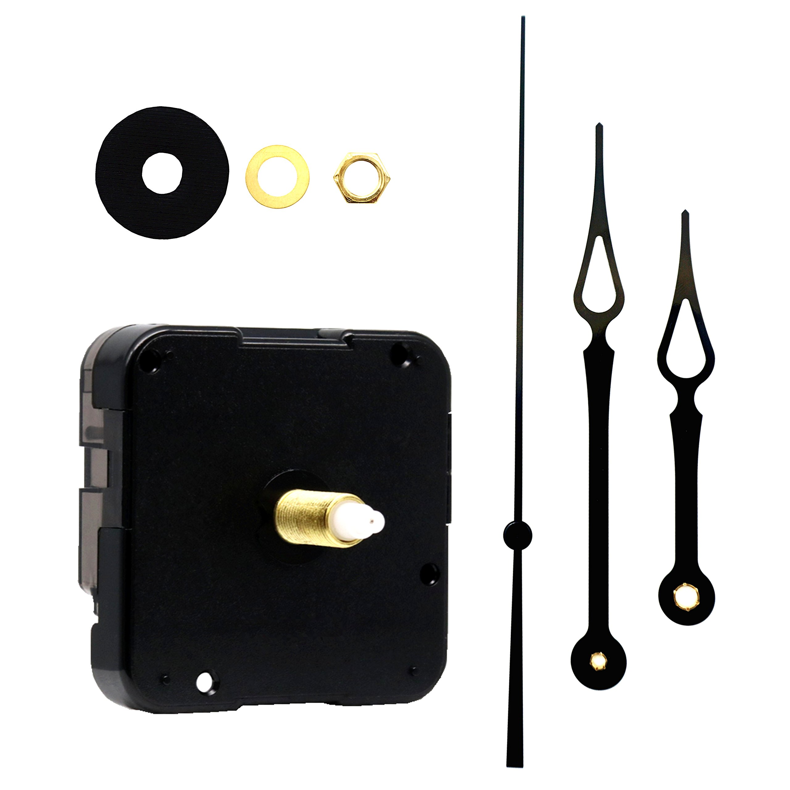 Youngtown 12888 Quartz DIY Wall Clock Movement Mechanism Repair Parts Replacement Kit Sweep Silent Movement,13mm (1/2 inch) Maximum Dial Thickness, 23mm (29/32 inch) Total Shaft Length.