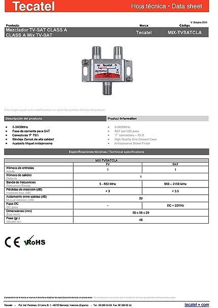 Tecatel TV Satélite - Mezclador de señal satélite y televisión: Amazon.es: Electrónica
