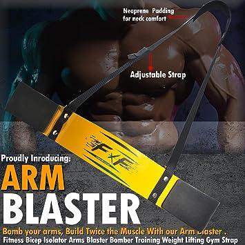 EVO Fitness Gewichtheben Arm Blaster Bizeps Isolator Support F/ür Gym Riemen T/ücher