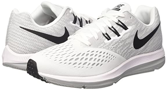 Amazon.com | NIKE Womens Zoom Winflo 4 Running Sneaker White/Black-Wolf Grey 898485-100 (10 M US) | Road Running