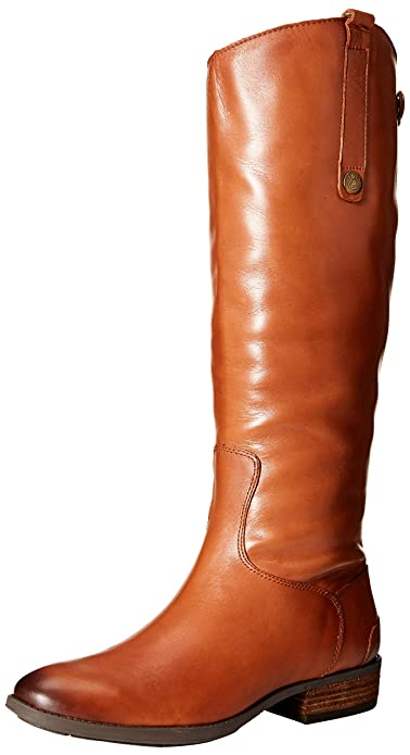Sam Edelman Women's Penny Riding Boot, Whiskey Leather, 8.5 Wide US best women's knee high boots