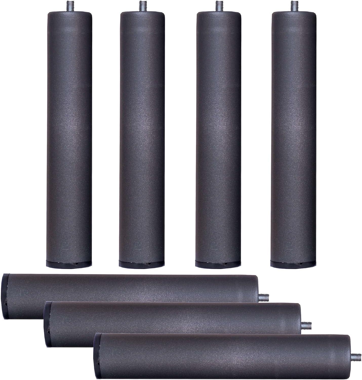 Bonitex Somier multiláminas con REGULADORES LUMBARES + 7 Patas. 105x200cm, FIRMEZA Adaptable, Tubo 40x30MM y LÁMINAS de Haya Natural Antideslizantes.